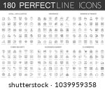 180 modern thin line icons set... | Shutterstock .eps vector #1039959358
