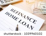 refinance home loan application ... | Shutterstock . vector #1039960102