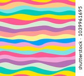 seamless bright color waves... | Shutterstock .eps vector #1039961695