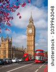 london with red buses against... | Shutterstock . vector #1039963048
