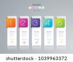 infographics design vector and... | Shutterstock .eps vector #1039963372