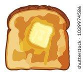 melting butter on the toast | Shutterstock .eps vector #1039974586