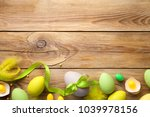 easter background with easter...   Shutterstock . vector #1039978156