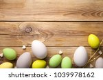 easter background with easter...   Shutterstock . vector #1039978162