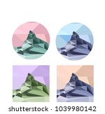 matterhorn swiss mountain... | Shutterstock .eps vector #1039980142