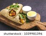 traditional indian cuisine....   Shutterstock . vector #1039981396