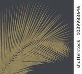 3 D Illustration Golden Palm...