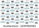 mustache kids background.... | Shutterstock .eps vector #1039983982