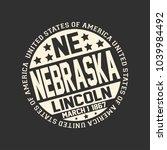 decorative stamp on black... | Shutterstock .eps vector #1039984492