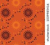 strange space pathways seamless ... | Shutterstock .eps vector #1039985416
