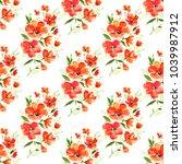 watercolor seamless pattern....   Shutterstock . vector #1039987912
