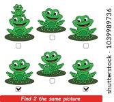 the educational kid matching... | Shutterstock .eps vector #1039989736
