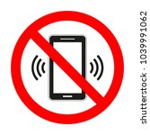 mobile phone sign prohibited on ...   Shutterstock .eps vector #1039991062