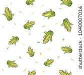 seamless vegetables set of raw... | Shutterstock .eps vector #1040007016