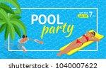 banner or flyer for summer... | Shutterstock .eps vector #1040007622