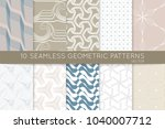 collection of seamless patterns.... | Shutterstock .eps vector #1040007712
