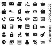 flat vector icon set   cart... | Shutterstock .eps vector #1040016202