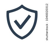 shield with check mark icon on... | Shutterstock .eps vector #1040020312