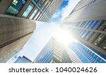 background skyscrapers in city | Shutterstock . vector #1040024626