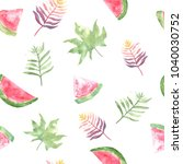 seamless watercolor pattern... | Shutterstock . vector #1040030752