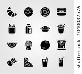 food and drinks icons set.... | Shutterstock .eps vector #1040032576
