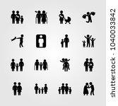 humans icons set. vector... | Shutterstock .eps vector #1040033842