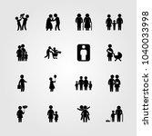 humans icons set. vector...   Shutterstock .eps vector #1040033998