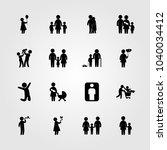 humans icons set. vector... | Shutterstock .eps vector #1040034412