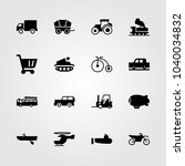 transport icons set. vector... | Shutterstock .eps vector #1040034832