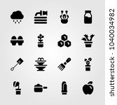 garden icons set. vector... | Shutterstock .eps vector #1040034982