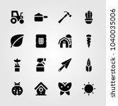 garden icons set. vector... | Shutterstock .eps vector #1040035006