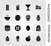 food and drinks icons set.... | Shutterstock .eps vector #1040035546