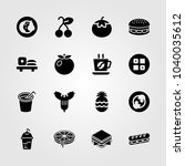 food and drinks icons set.... | Shutterstock .eps vector #1040035612
