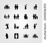 humans icons set. vector... | Shutterstock .eps vector #1040036392
