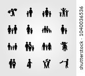 humans icons set. vector... | Shutterstock .eps vector #1040036536