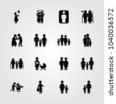 humans icons set. vector... | Shutterstock .eps vector #1040036572