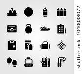 fitness icons set. vector... | Shutterstock .eps vector #1040038072