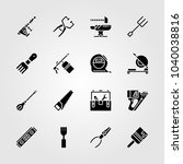 tools icons set. vector... | Shutterstock .eps vector #1040038816