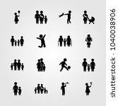 humans icons set. vector... | Shutterstock .eps vector #1040038906