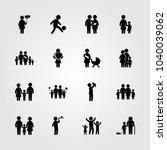 humans icons set. vector... | Shutterstock .eps vector #1040039062