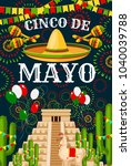 cinco de mayo greeting card for ... | Shutterstock .eps vector #1040039788