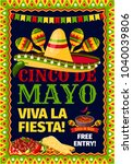 cinco de mayo mexican holiday... | Shutterstock .eps vector #1040039806