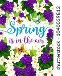 spring is in air springtime... | Shutterstock .eps vector #1040039812