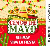 cinco de mayo fiesta invitation ... | Shutterstock .eps vector #1040039818