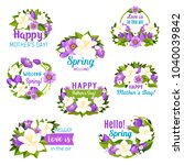 spring flower and mother day... | Shutterstock .eps vector #1040039842