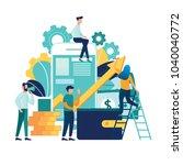 vector creative illustration of ... | Shutterstock .eps vector #1040040772