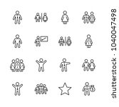 set of people vector line icons.... | Shutterstock .eps vector #1040047498