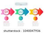 process chart. abstract... | Shutterstock .eps vector #1040047936