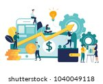 vector illustration of virtual... | Shutterstock .eps vector #1040049118
