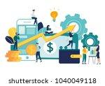 vector illustration of virtual... | Shutterstock .eps vector #1040049118
